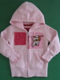 Rosa SCHMETTERLINGS Sweat-jacke